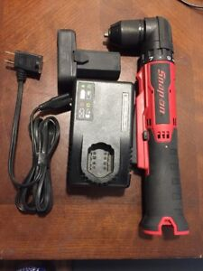 Snap On Tools Right Angle 14 4v Micro Lithium Ion Drill Driver Set Kit Screw Gun