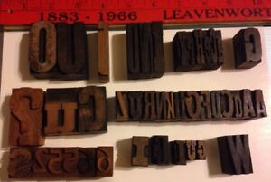 Lot Of 42 Antique Vintage Wood Letterpress Print Type Block Letters Numbers