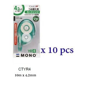 Tombow Correction Tape 10m X 4 2mm Ctyr4 10 Pcs