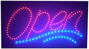 Large Led Open Sign For Business Displays Jumbo Light Up Sign Open With 2