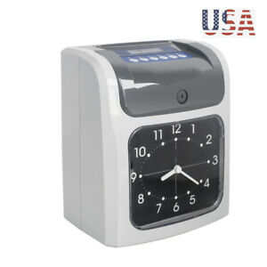 Electronic Employee Analogue Time Recorder Time Clock With Card Time Attendance