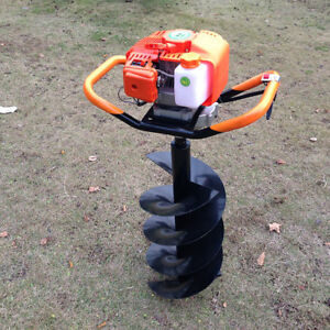 Gas Powered 52cc Fence Ground Drill Post Hole Digger Machine 4 6 8 Auger