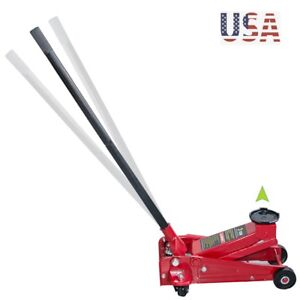 3 Ton Heavy Duty Jack Rapid Pump Show Car Lowrider Steel Ultra Low Profile Floor