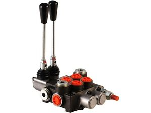 2 Spool Hydraulic Control Valve 21gpm Double Acting Cylinder Floating Spools