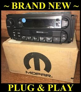 New Chrysler Dodge Jeep Rbb Stereo Audio Am Fm Cassette Radio Head Unit Cdc Oem