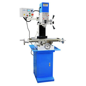 Pm 727 v Vertical Bench Top Milling Machine W stand Variable Speed Free Shipping