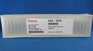 Pack 125 Silanized Culture Tubes 12 X 75 Thermo Cts 1275