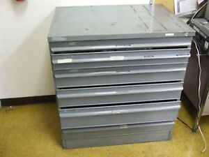 Classic 6 Drawer Equipto Tools Parts Cabinet 39 X 36 X 26 1 2 Hd Steel