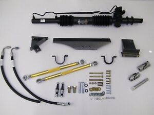 1965 66 Mustang Power Rack And Pinion With Tilt Ididit Chrome Column