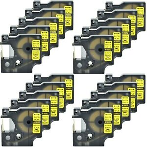 20 Heat Shrink Tube Label Ind Tape Black On Yellow18052 For Dymo Rhino 4200 1 4