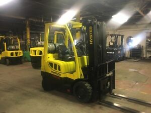 2014 Hyster 5000 Lb Forklift With Side Shift Triple Mast