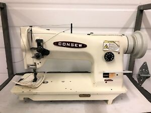 Consew 206 rb Walking Foot Big Bobbin Reverse Industrial Sewing Machine