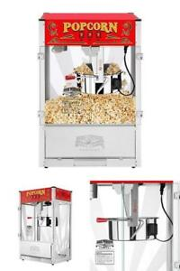 Large Commercial Quality Electric Deluxe Popcorn Popper Maker Machine 16oz Party