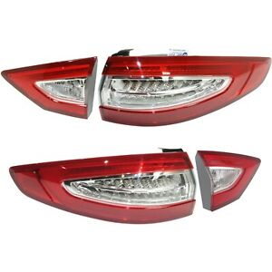 Tail Light For 2013 2016 Ford Fusion Driver And Passenger Side