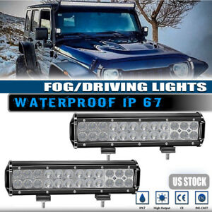 2x72w 12inch Led Work Light Bar Combo Roof bumper Offroad Driving Lamp For Honda
