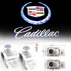 4x For Cadillac Welcome Courtesy Shadow Door Light Cree Led Projector Lamp Ghost