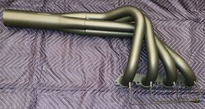 New Basset Water Injected 454 Jet Twist Headers Ceramic Coated Black W Covers