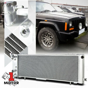Aluminum 3 Row Performance Radiator For 91 01 Cherokee Comanche 2 5 4 0 At Mt