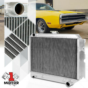 Aluminum 3 Row Tri core Performance Cooling Radiator For 62 67 Chevy Ii I6 v8