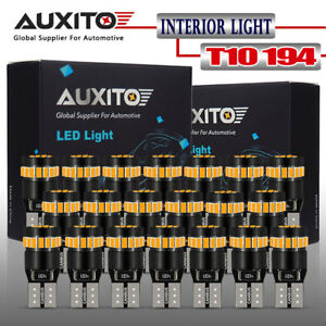 Auxito 20x T10 Canbus Amber Yellow 168 194 License Side Marker Light Led Bulb