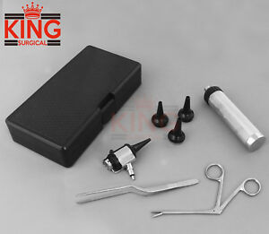 New Veterinary Double Lens Operating Otoscope Diagnostic Kit Set