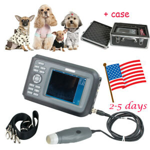 Vet Veterinary Ultrasound Scanner Handscan 3 5mhz Probe Animals case Battery