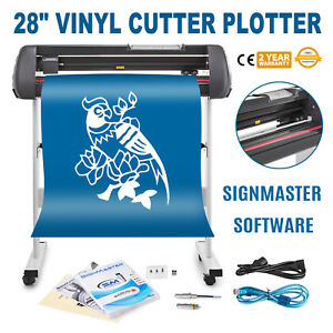 Vinyl Cutter Plotter Sign Cutting 28 Sticker 10 800mm m Lcd Display Usb Port
