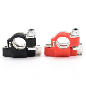 Pair Battery Terminal Heavy Duty Car Vehicle Quick Connector Cable Clamp Clip