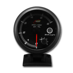 95 Mm 3 3 4 Inches Auto Diesel Tachometer 0 6000 Rpm Black Face
