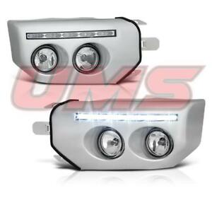 For 07 14 Toyota Fj Cruiser Led Drl Chrome Fog Lights Driving Lamps Switch Bulbs