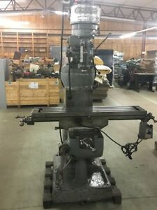 Bridgeport Milling Machine With Servo 150 Power Feed