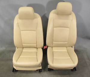 2010 2013 Bmw F07 F10 5 series Front Seat Pair Venetian Beige Leather Heat Oem