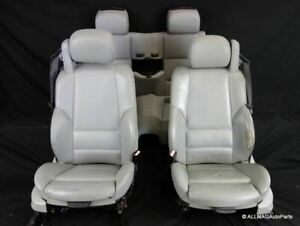 01 06 Bmw M3 Convertible Seats Front And Rear Grey Leather Heated Electric E46 1