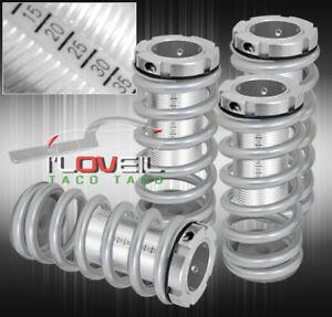 96 97 98 99 00 Honda Civic Lx Dx Ex Scaled Coilover Silver Coil Springs Lowering
