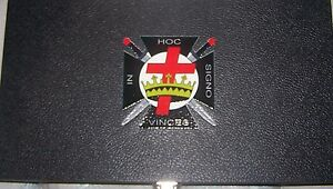 Masonic Knights Templar Kt Display Box Case Medal Pin Fob Jewel Badge Crusades