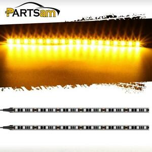 2x18led Amber Turn Signal Indicator Blinker Light Bar Led Motorcycle Strip Light