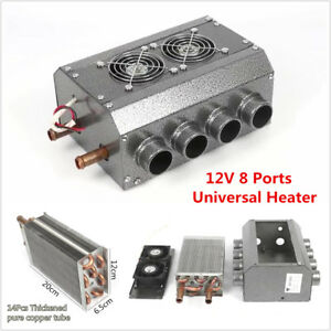 12v 8 Port 14pcs Copper Tube Heater For Car Truck Vintage Muscle Car Under Dash