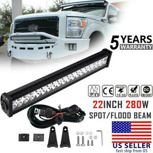22inch 280w Cree Led Light Bar Spot Flood Combo Offroad Pickup Truck Atv 4wd 24