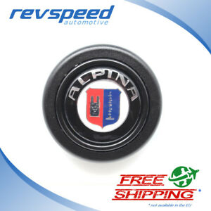 Elettro Steering Wheel Horn Button For Momo Omp With Bmw Alpina Logo Emblem