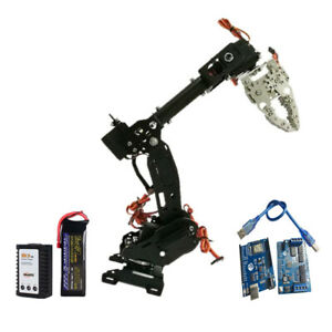 Wireless 8 Dof Robot Arm Gripper Claw Kit 3316 Servo Power Suite Black