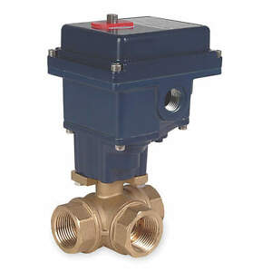 Dynaquip Controls Ball Valve Electric 1 4 In Npt Brass Model Eyhg1aue20h