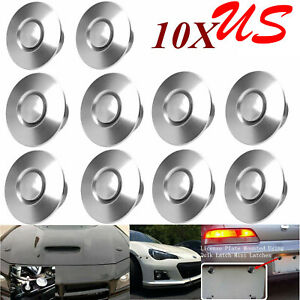 10x Push Button Billet Hood Pins Lock Clip Set Car Quick Latch Bonnet 1 25