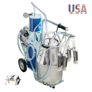 Electric Milker Bucket 25l Milking Machine Portable Convenient Stainless Steel
