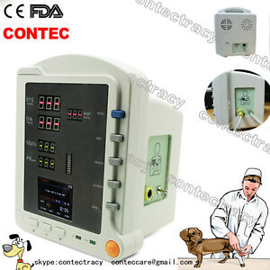 Veterinary Vital Sign Portable Patient Monitor Nibp Pr Spo2 Contec Cms5100 Vet