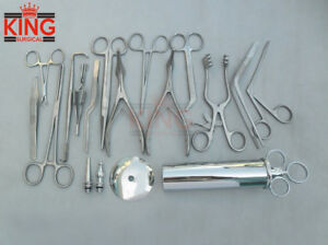 Set Of 15 Pcs Ear And Nose Surgery Instru Forceps Vienna Nasal Speculum