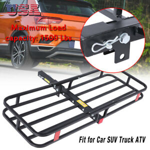 Steel Folding Luggage Cargo Basket Carrier Truck Suv Trailer Receiver Hitch Rack