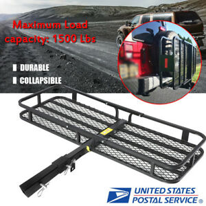 53 Folding Truck Car Cargo Carrier Basket Luggage Rack Hitch Travel 2 Hitch Us