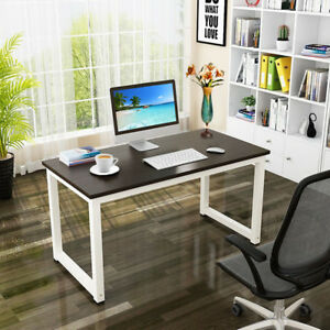 47 Computer Desk Pc Laptop Study Writing Table Workstation Home Office Black