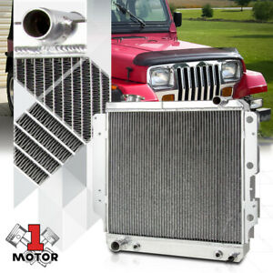 Aluminum 3 Row Core Performance Radiator For 87 06 Jeep Wrangler Yj Tj 2 4 4 2