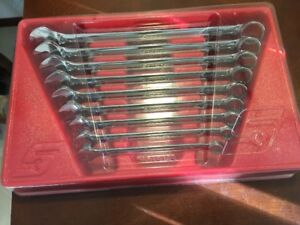 Snap On Tools Usa Oex709b Flank Drive Sae Standard Open Box Wrench Set 3 8 7 8
